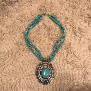 Southwestern Inspired Turqouise Statement Necklace